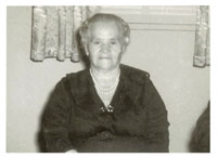 Amedea Angelini, Great Grandmother of Alexis Adie, 1963, at her 80th birthday